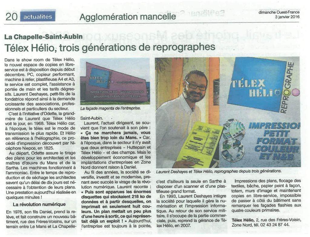 Telex helio dans la presse